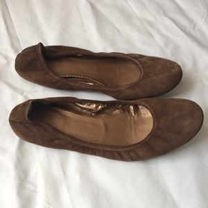 J.CREW Size 8.5 Brown Suede Flat Shoes